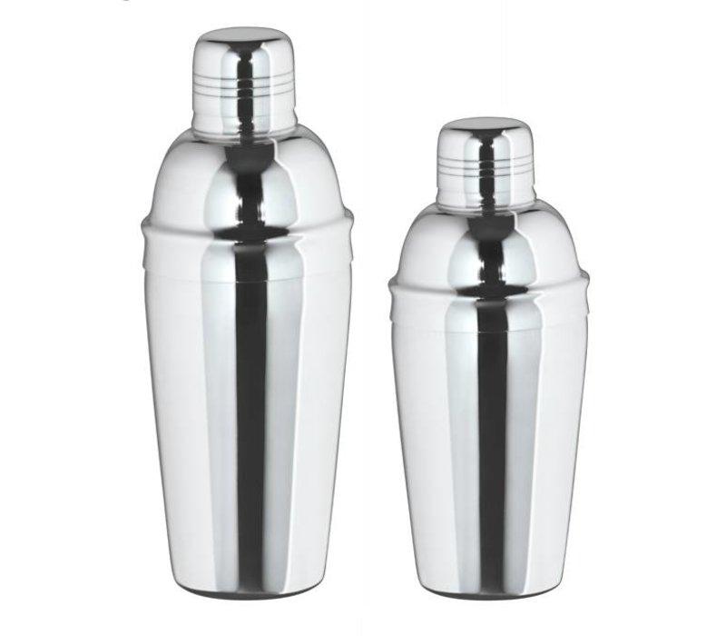 XXLselect Cocktailshaker 3-delig hoogglans 0,7 Liter