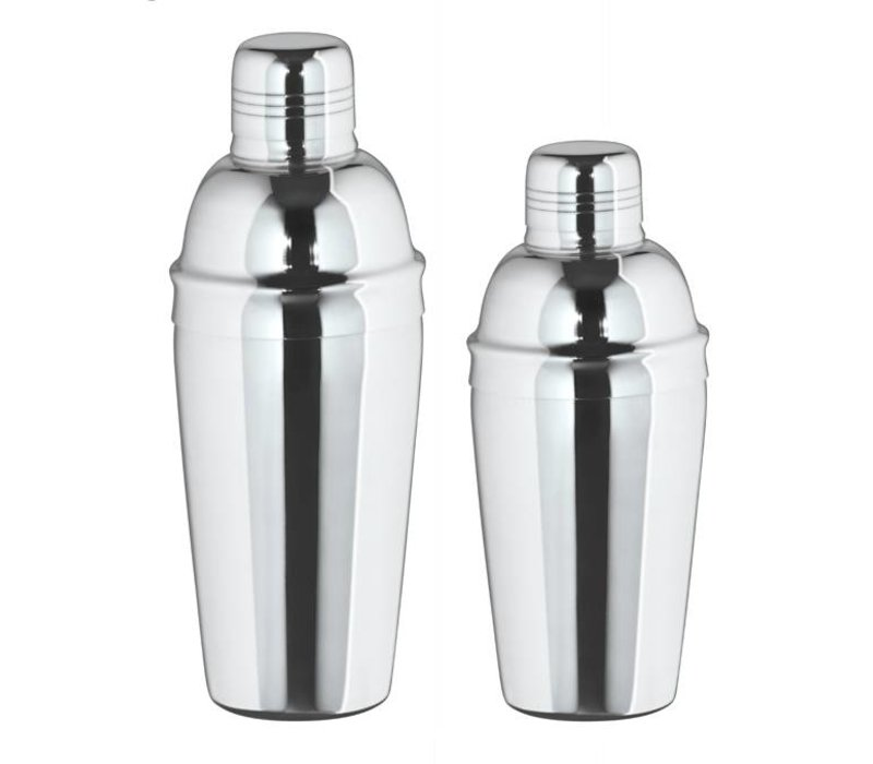 XXLselect Cocktailshaker 3-delig hoogglans 0,5 Liter