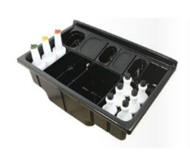 XXLselect Cocktail Workstation | With Sink, drain and Bottle compartment