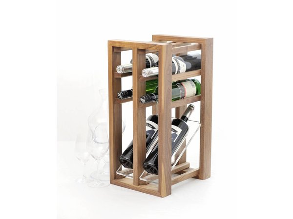 XXLselect Wine rack display - designed for six bottles