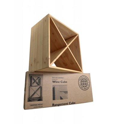 XXLselect Wijnrek kwadraat 24 flessen - 69 x 53 x (h)9cm - Hout