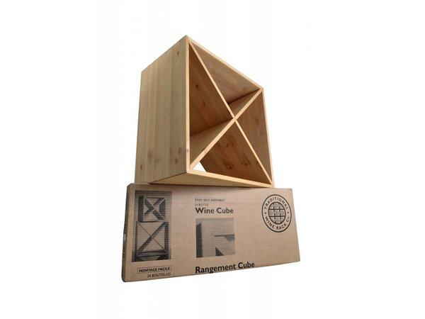 XXLselect Weinregal 24 Quadratflaschen - 69 x 53 x (H) 9cm - Holz