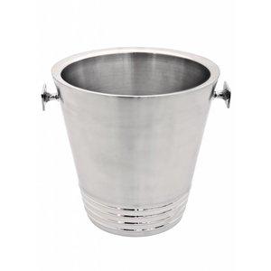 XXLselect Weinkühler Bormio - Doppelwandige Edelstahl - Ø22cm x 43 (H) cm