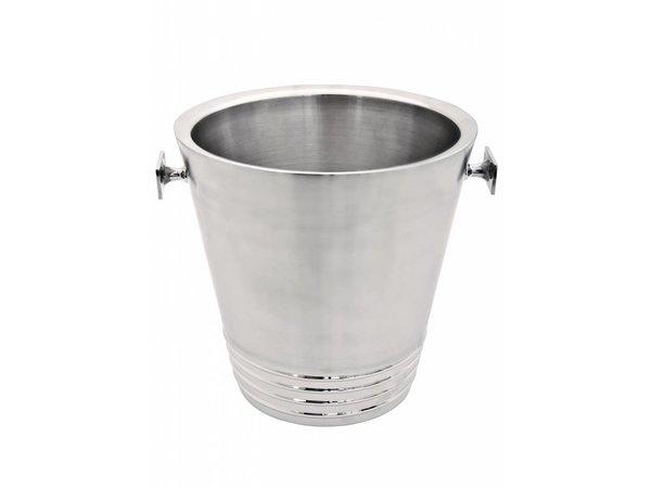 XXLselect Wine Cooler Bormio - Double walled stainless steel - Ø22cm x 43 (H) cm