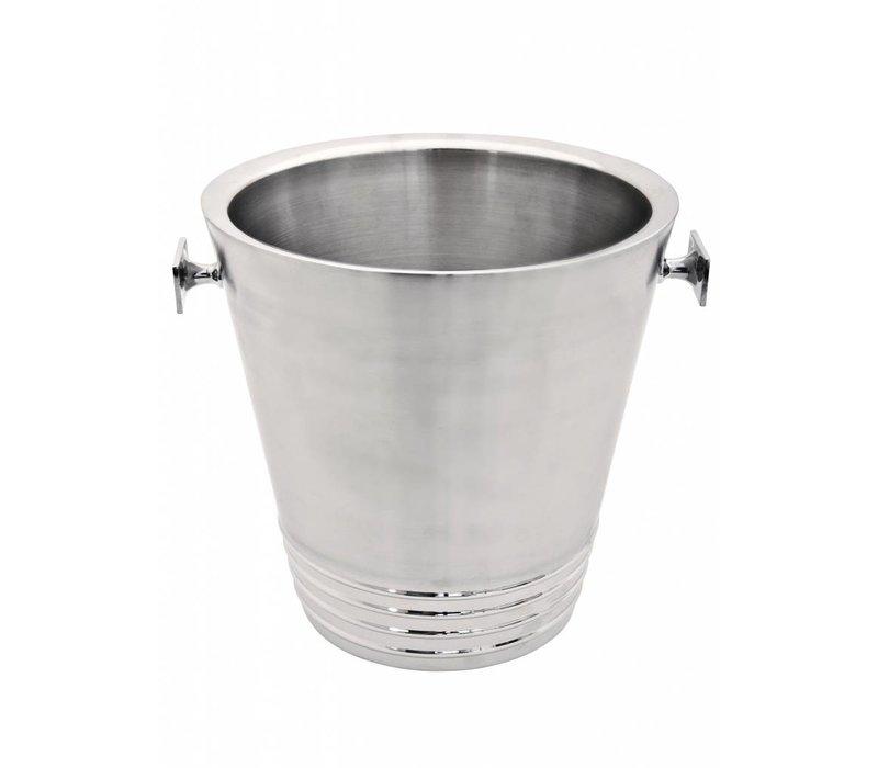 XXLselect Wijnkoeler Bormio - Dubbelwandig RVS - Ø22cm x 43(h)cm
