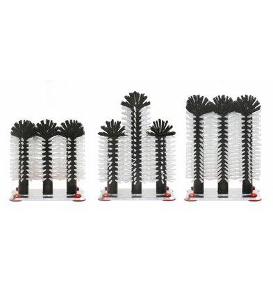 XXLselect Spoelborstel aluminium voet 3-delig - 3x18cm