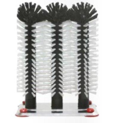 XXLselect Spoelborstel aluminium voet 3-delig - 3x25cm
