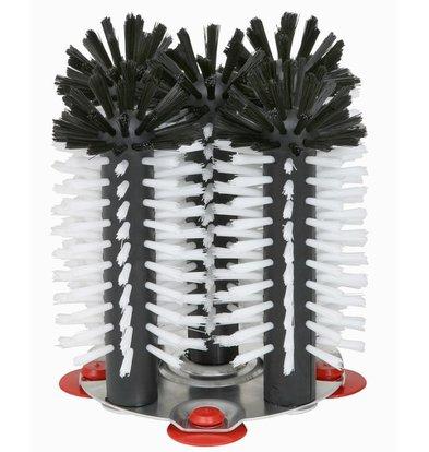 XXLselect Rinse brush aluminum base 5 parts - 5x18cm