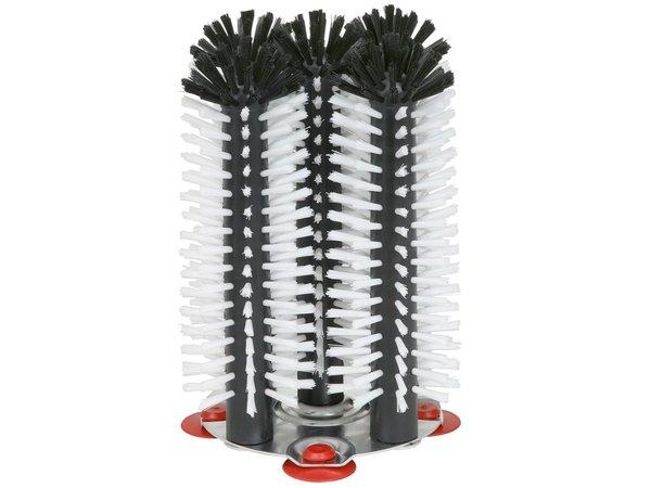 XXLselect Spoelborstel aluminium voet 5-delig - 5x25cm