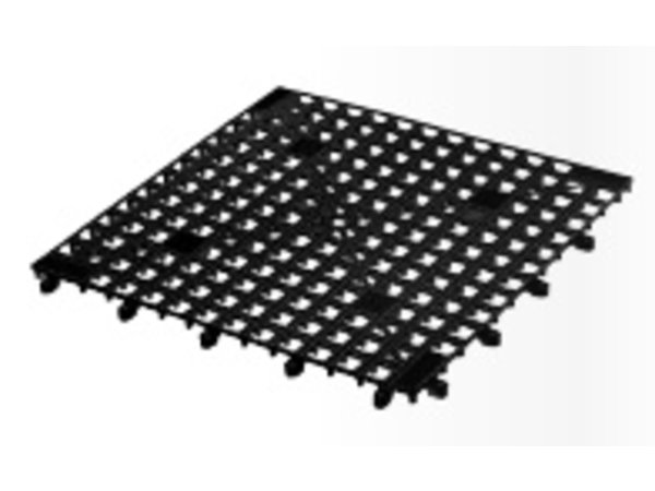 XXLselect Glazenmatje schakelbaar - 33x33cm Zwart