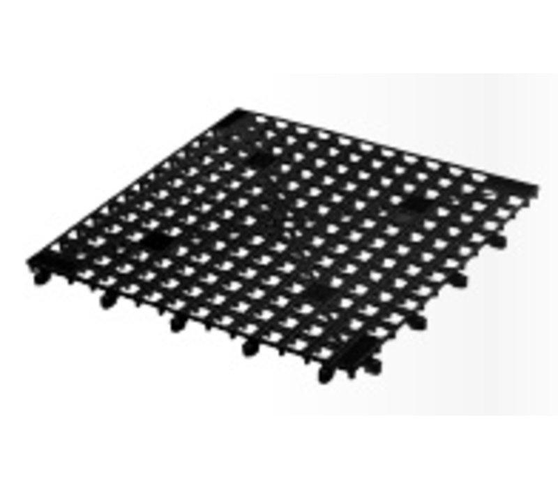 XXLselect Schaltbare Glasmatte - 33x33cm Schwarz