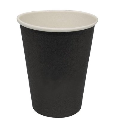 XXLselect Hot cups Beker - Zwart - 34cl - Disposable -Aantal stuks 1000
