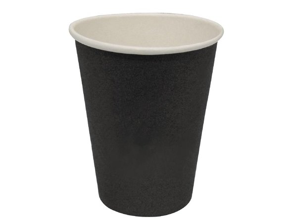XXLselect Hot cups Beker - Zwart - 34cl - Disposable -Aantal stuks 1000