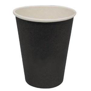XXLselect Hot cups Beker - Zwart - 23cl - Disposable - Aantal stuks 1000