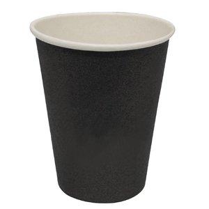 XXLselect Hot cups Beker - Zwart - 23cl - Disposable - Aantal stuks 50