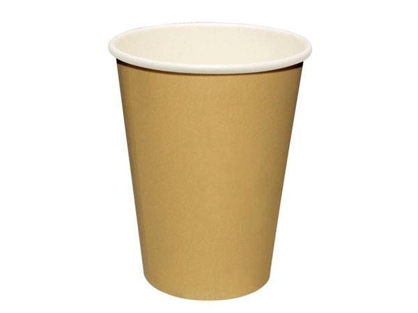 XXLselect Hot cups Beker - Lichtbruin - 23cl - Disposable - Aantal stuks 50