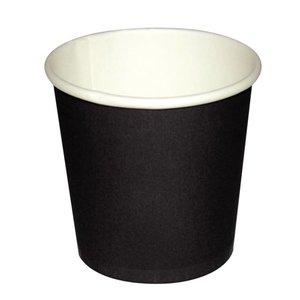 XXLselect Espresso Beker - Zwart - 11cl - Disposable - Aantal 1000 stuks