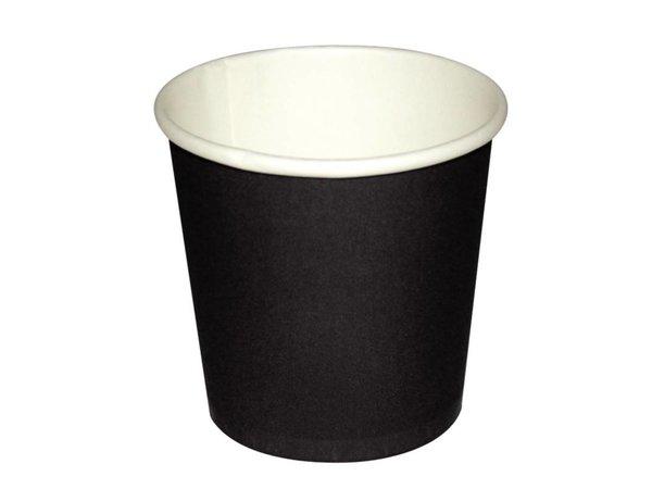 XXLselect Espresso Cup - Black - 11CL - Disposable - Number 50 pieces