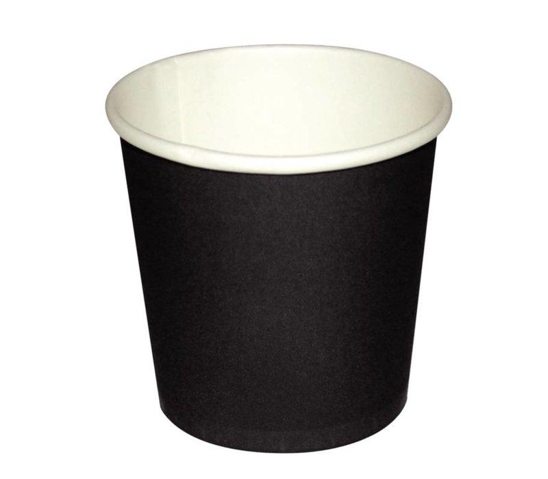 XXLselect Espresso Beker - Zwart - 11cl - Disposable - Aantal 50 stuks