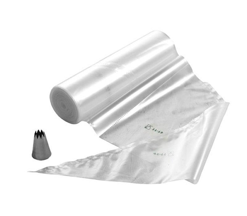 Hendi Spuitzak Disposable 530x275 mm   Rol 100 stuks Transparant   530x275mm