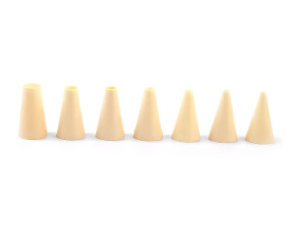 Hendi Spuitmondjes   Set  7 Stuks   Nylon Glad   Ø4,6,8,10,12,14,16mm