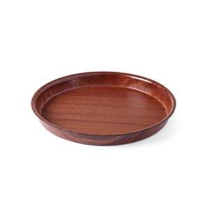 Hendi Fach Mahagoni Runde | Anti-Rutsch-Beschichtung | Holz-Formular | Ø360x (H) 30 mm