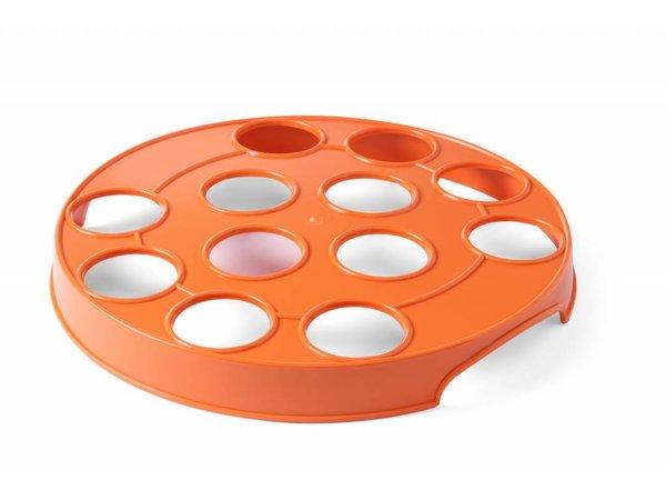 Hendi Beer rack for 12 Orange Glasses   ABS holes 55mm   Ø315mm