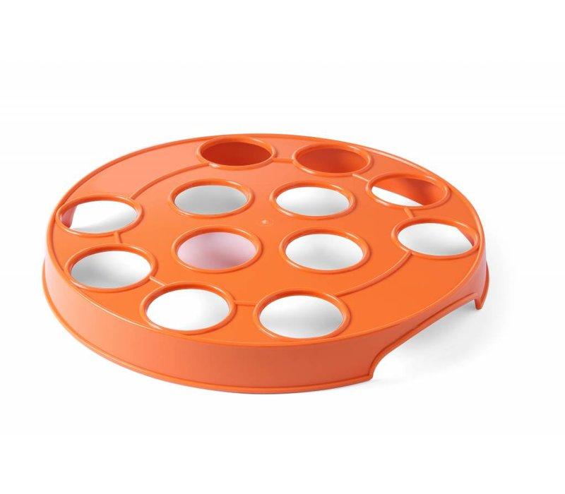 Hendi Bier-Rack für 12 orange Gläser   ABS Löcher 55mm   Ø315mm