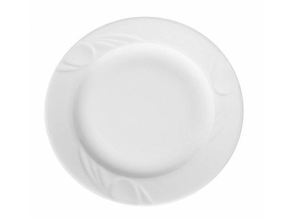 Hendi Foren-Flach - 160x18 mm - Karizma - Weiß - Porzellan
