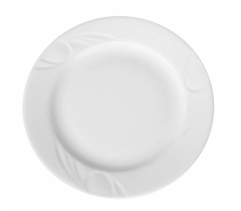 Hendi Foren-Flach - 200x22 mm - Karizma - Weiß - Porzellan