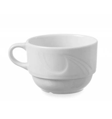 Hendi Cup - 230 ml - Karizma - 88x111x60 mm - White - Porcelain