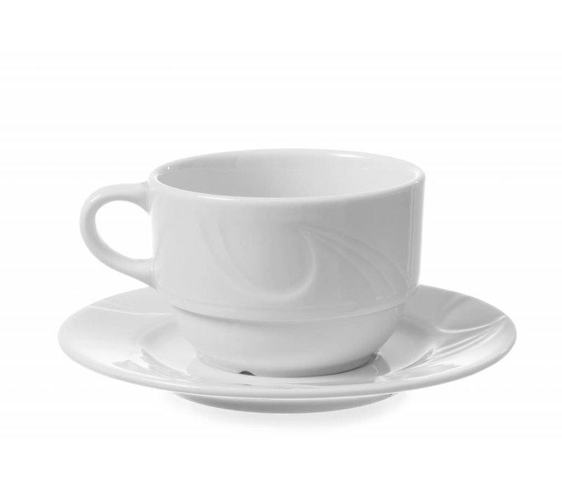 Hendi Cup - 230 ml - Karizma - 88x111x60 mm - Weiß - Porzellan