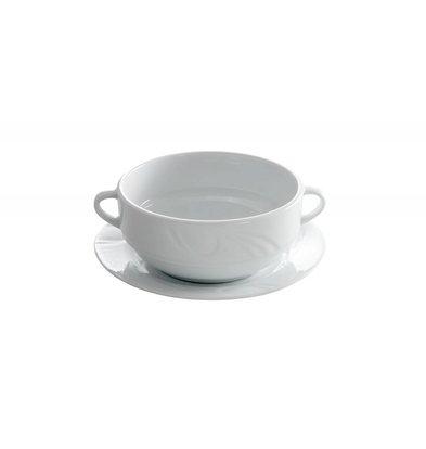 Hendi Suppenschale - 120x155x55 mm - Karizma - 380 ml - Weiß - Porzellan