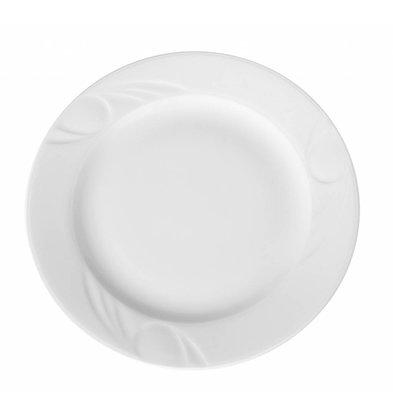 Hendi Foren-Flach - 280x25 mm - Karizma - Weiß - Porzellan
