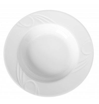 Hendi Vorstand tief - 300x47 mm - Karizma - Weiß - Porzellan