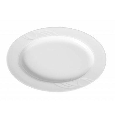 Hendi Skalieren oval Karizma - 290x220x27 mm - Weiß - Porzellan