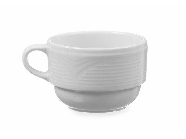 Hendi Mokkakop 90 ml Saturn - 85x65x45 mm - Weiß - Porzellan