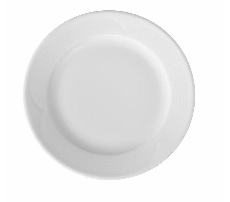Hendi Foren-Flach - 240x25 mm Saturn - Weiß - Porzellan
