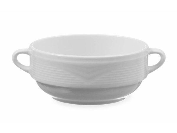 Hendi Soup bowl - 380 ml - Saturn - 160x1250x55 mm - White - Porcelain