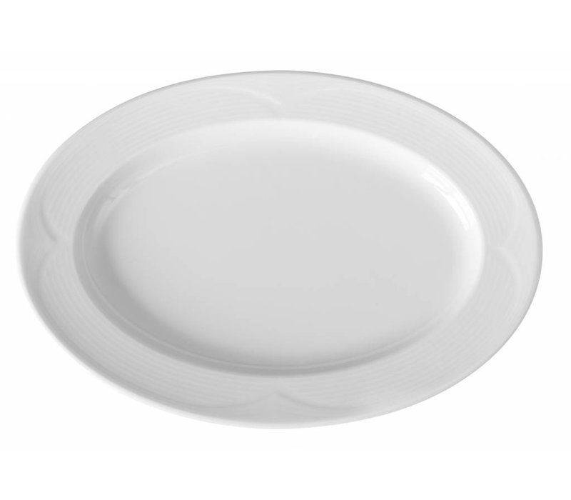 Hendi Scale - Oval - Saturn - 340x240x35 mm - Weiß - Porzellan