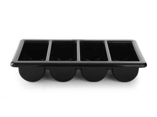 Hendi Besteck Black - 4 Vaks - GN 1/1 - 100 mm