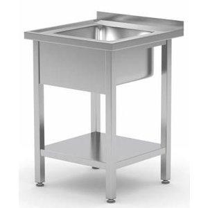 XXLselect Spoeltafels met 1 Spoelbak op Maat - Elke maat Spoeltafel / Wasbak van RVS leverbaar in iedere Maat