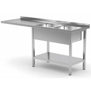 XXLselect Sink Units with two sinks in Size - Each Size Sink / Sink of stainless steel available in any size