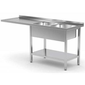 XXLselect Spülen mit zwei Waschbecken in Größe - jede Größe Sink / VA-Spülbecken in jeder Größe