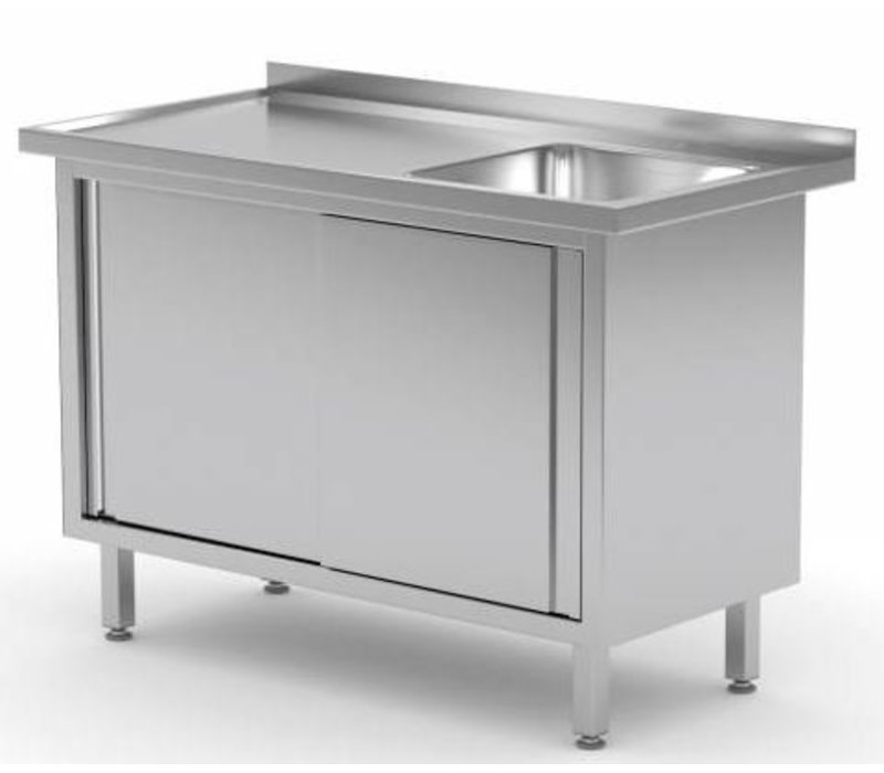 XXLselect Sink Units with 1 Sink Tailor - Each Size Sink / Sink of stainless steel available in any size