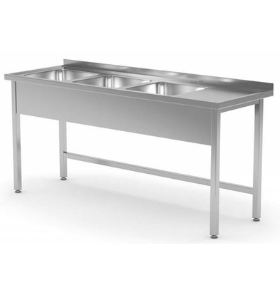 XXLselect Sinks Sinks with 3 Tailor - Each Size Sink / Sink of stainless steel available in any size