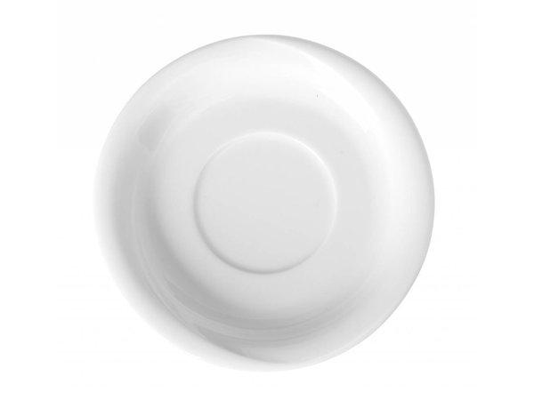 Hendi Schotel 120x20 mm Exclusiv - Voor kop 90 ml wit porselein