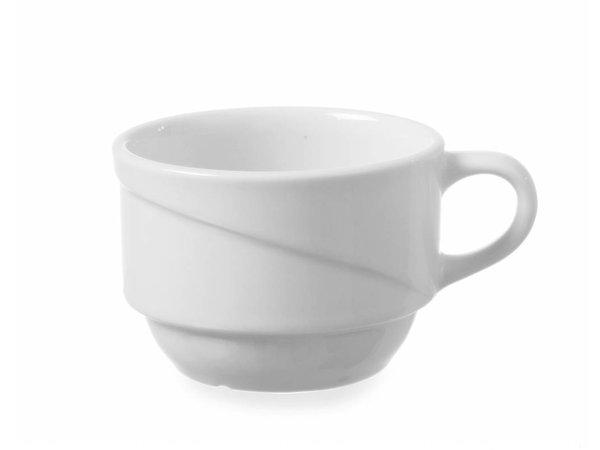 Hendi Cappuccino-Tasse - 230ml - Exclusiv - Weiß - Porzellan