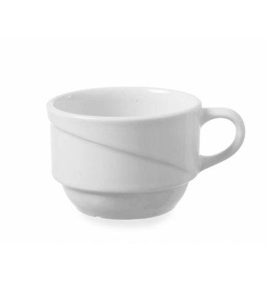 Hendi Coffee 170ml Exclusiv - 100x80x55 mm white porcelain