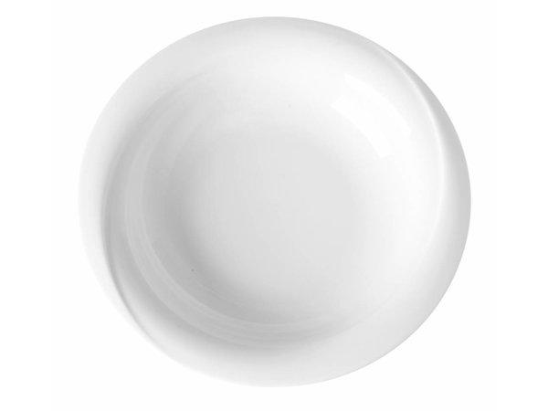 Hendi Vorstand tief - 220x40 mm - Exclusiv - Weiß - Porzellan